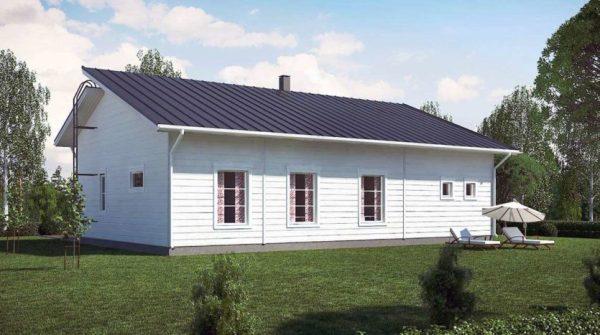 Проект финского одноэтажного каркасного дома Ханко ...