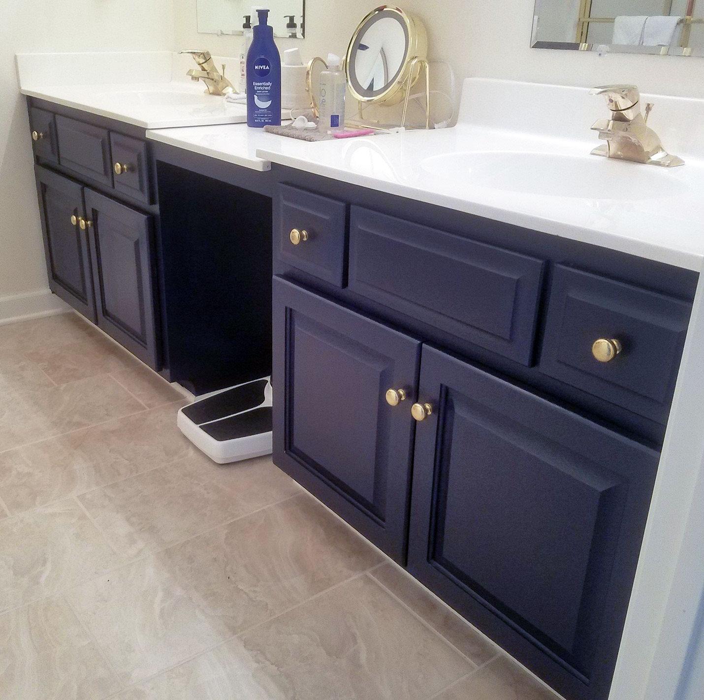 coastal blue bathroom vanity general finishes design center on blue paint bathroom ideas exterior id=21587
