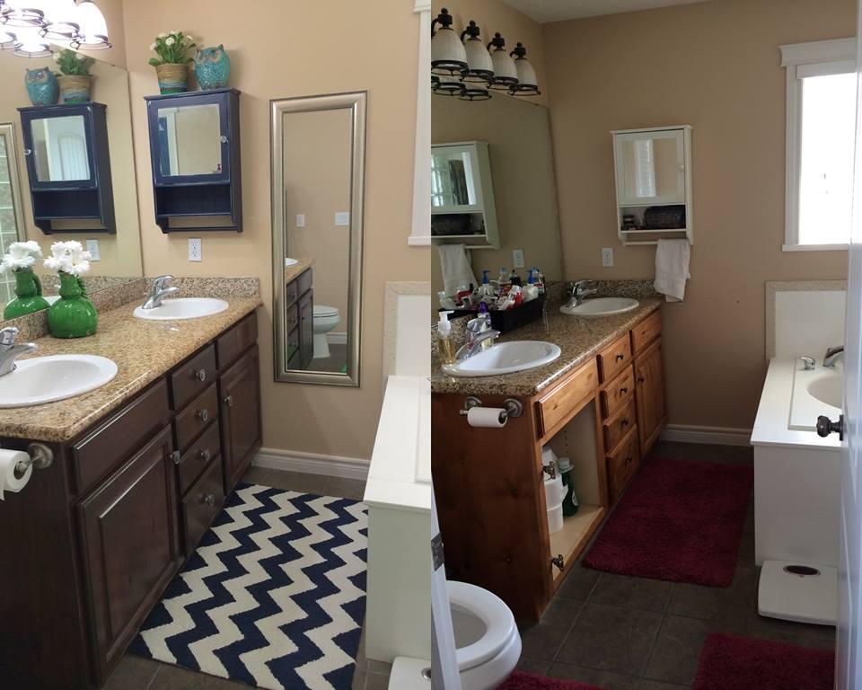 Bathroom Overhaul With Antique Walnut Gel Stain General