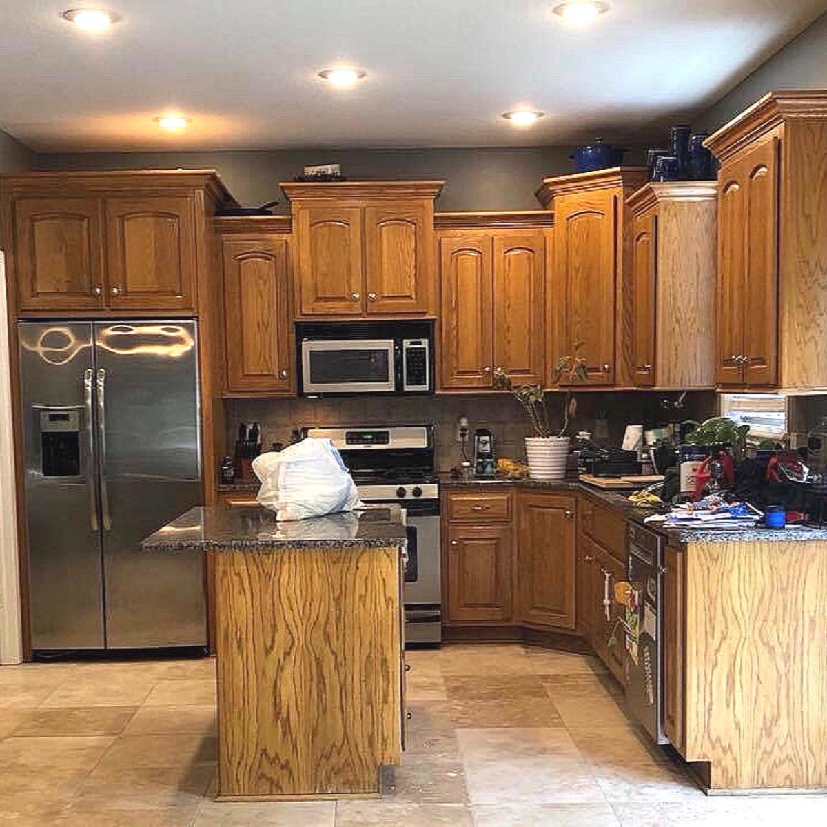 Honey Oak To Snow White General Finishes Design Center