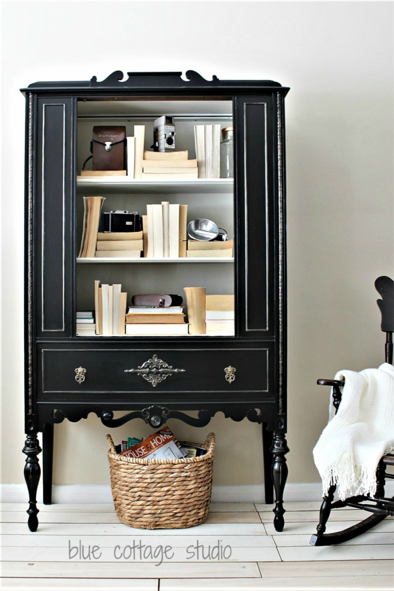 Lamp Black China Cabinet General Finishes Design Center