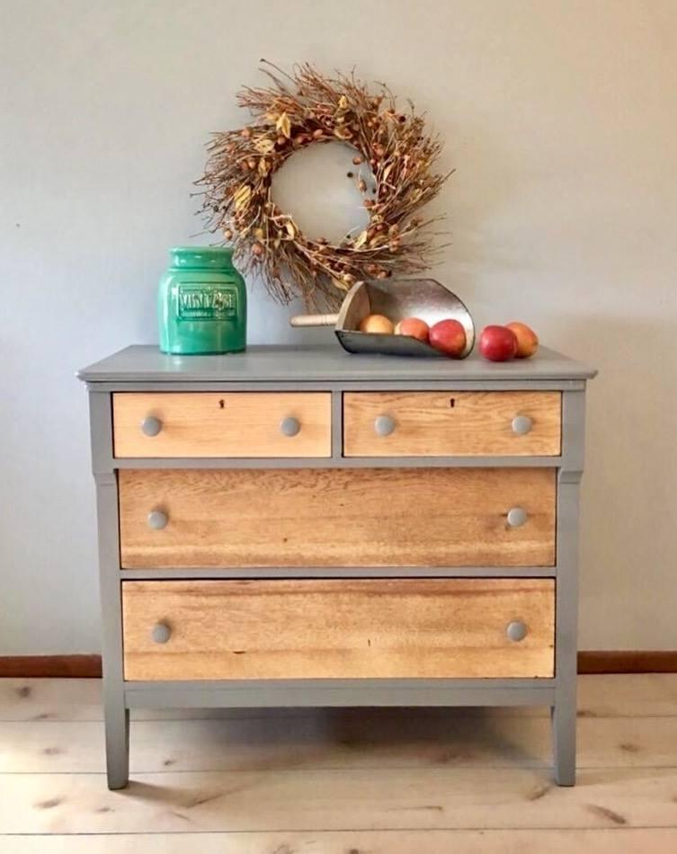 Custom Mix Of Driftwood Amp Seagull Gray Milk Paint Dresser