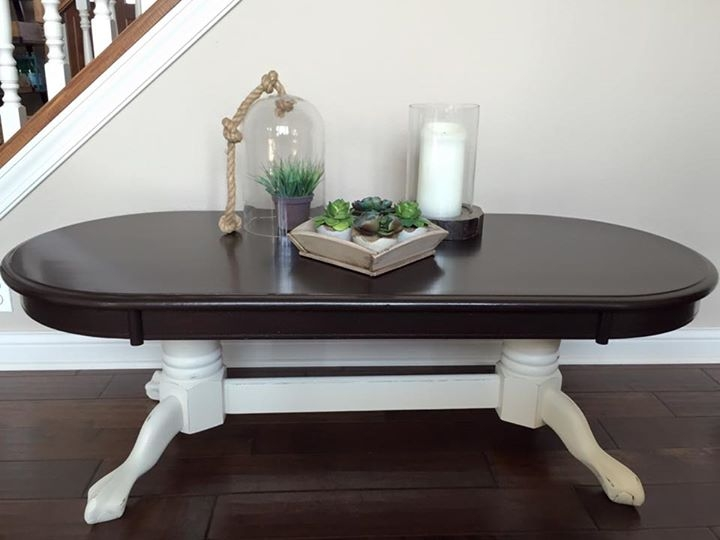 Coffee Table In Java Gel Stain And Antique White Milk