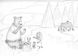 Tea with Bear and Friends sketch