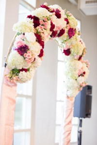 Beautiful Floral Wedding Arch for Ceremony
