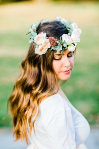 floral crown by florist in geneva, illinois
