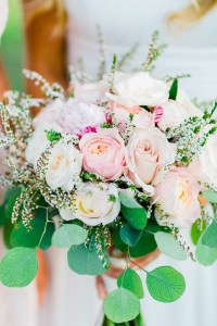 pink and white whimsical bridal bouquet