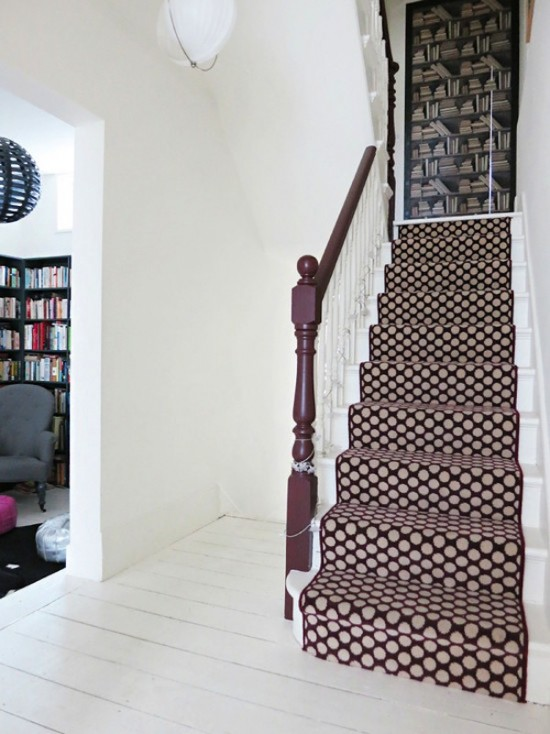 Stair Captivating Image Of Staircase Decoration Using Patterned