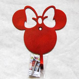 metal minnie mouse wall hooks, girl mouse wall art