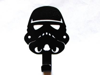 Metal star wars storm trooper towel hook or coat hook