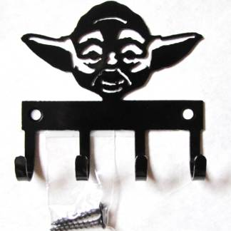 metal star wars yoda wall hooks, star wars sign