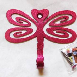 metal dragonfly wall hooks, dragonfly wall art
