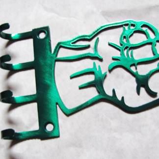 metal hulk wall hooks, hulk fist sign
