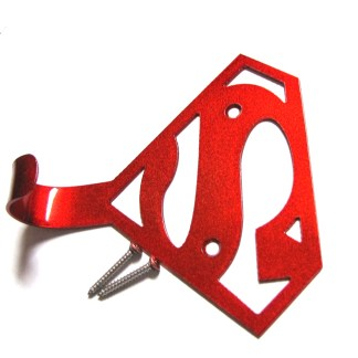 metal superman wall hook, towel hook, coat hook