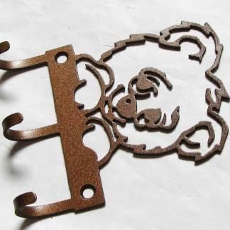 metal teddy bear wall hooks nursery hooks