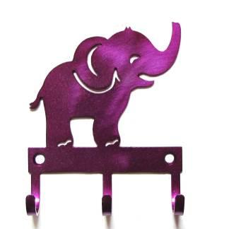 metal baby elephant wall hooks
