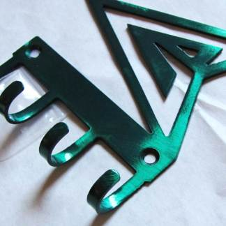 metal green arrow wall hooks