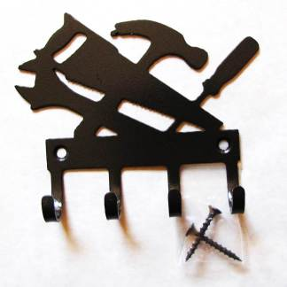 metal carpenter tools wall hooks