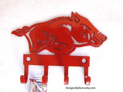 metal arkansas razorback wall hooks key hooks