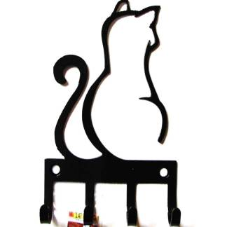 metal cat wall hook, cat wall art