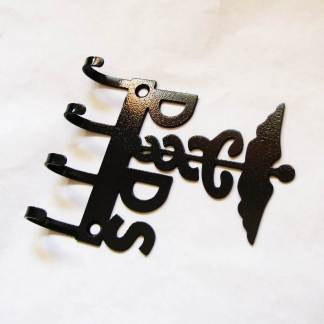 Metal dentist wall hooks