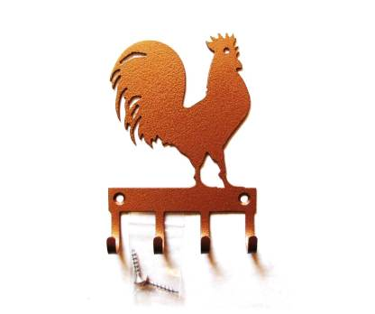 Metal Rooster Wall Hooks