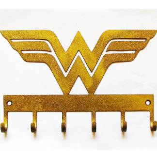 metal wonder woman wall hooks, superhero wall hooks
