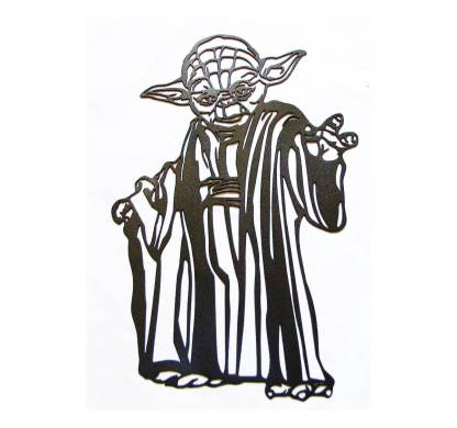 metal star wars yoda jedi wall art