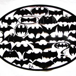metal batman logo sign