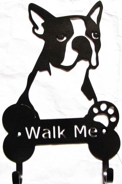 boston terrier metal leash hooks leash holder