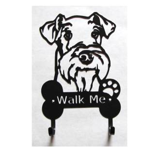 airedale terrier metal leash hooks