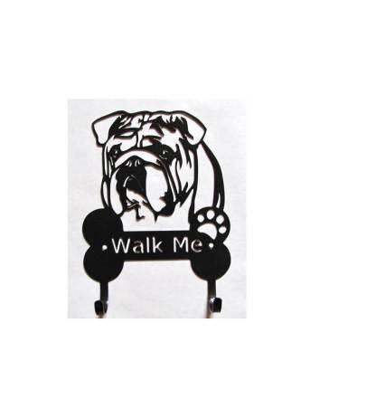 english bulldog metal leash hooks leash holders