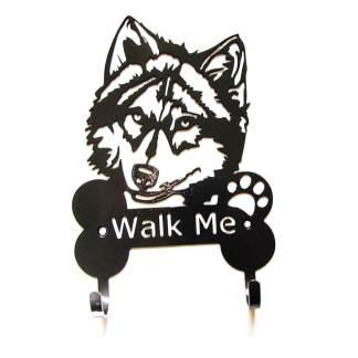 siberian husky metal leash hooks leash holder