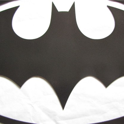 Batman logo wall art