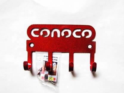 conoco logo metal wall hooks, key holder