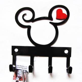mickey curly head metal wall hooks, key holder