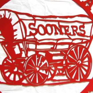 University of Oklahoma Metal Sooners Sign