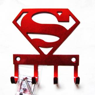 superman metal wall hooks, key holder