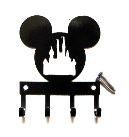 Mickey Head with Castle Metal Wall Hooks
