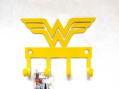 metal wonder woman wall hooks, wonder woman wall art