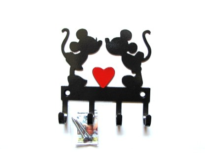 Metal Mickey and Minnie Wall Hooks