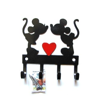 Metal Mickey and Minnie Wall Hooks