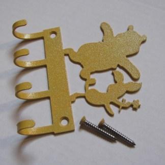 winnie the pooh and piglet metal wall hooks