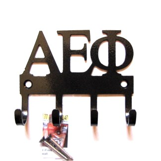sorority alpha epsilon phi metal wall hooks