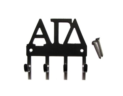 sorority alpha gamma delta metal wall hooks