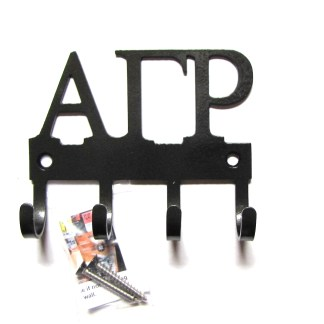 SORORITY alpha gamma pho metal wall hooks