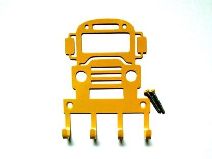 Metal School Bus Wall Hooks, Key Holder
