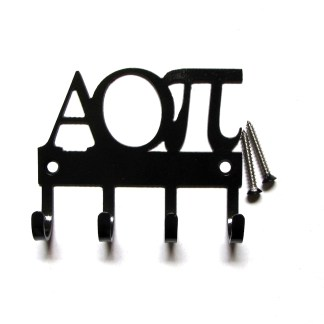 sorority alpha omicron pi metal wall hooks