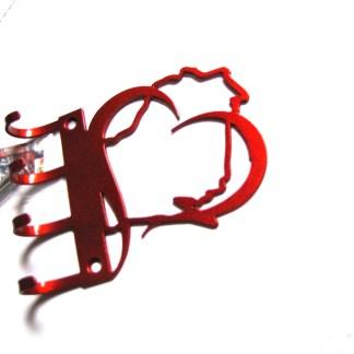 metal heart wisconsin wall hooks key holder