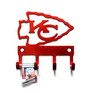 KC Chiefs wall hooks